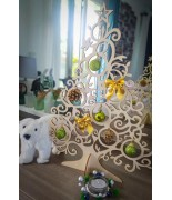 Sapin de Noël en bois 141,50cm à accrocher