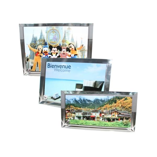 Cadre photo en verre contours biseaut s amdesign for Cadre photo en verre
