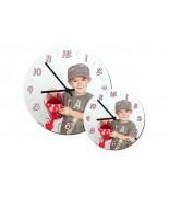 Horloge en bois (format rond)