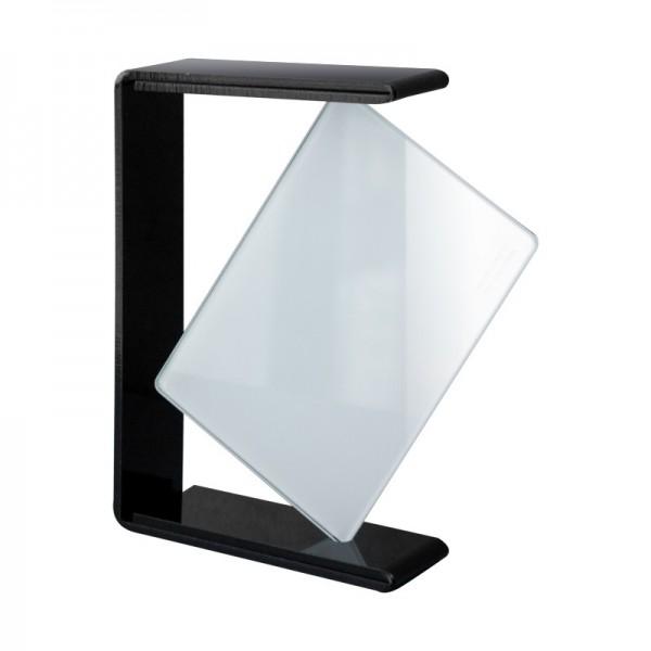 cadre photo en verre support noir brillant amdesign. Black Bedroom Furniture Sets. Home Design Ideas