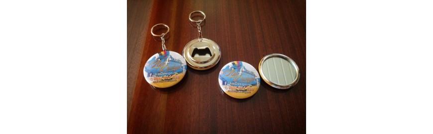 Badge porte clé ou miroir photo
