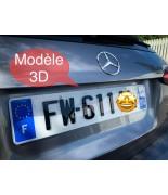 Plaque d'immatriculation 3D