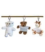 Peluche porte-clés ours blanc